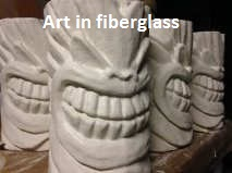 afbeelding van een design in fiberglass,tiki style, composite, decor, decoration